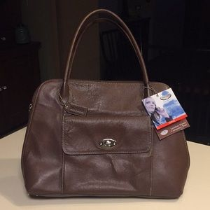 NWT Leather Dome Computer Tote
